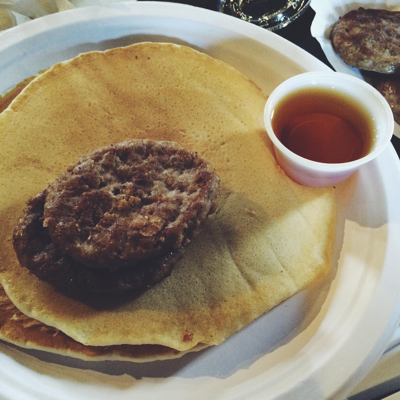 Pancakes, Sausage & Syrup
