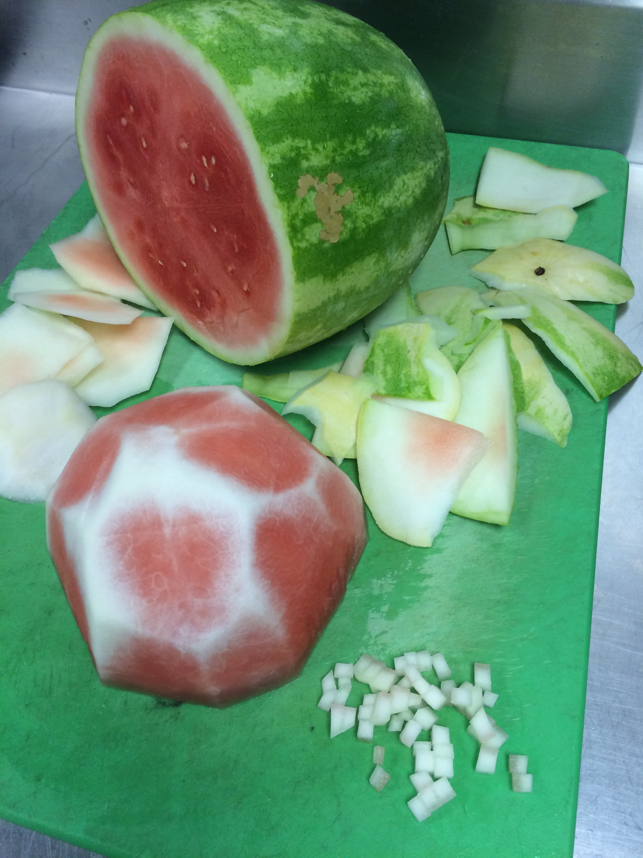 Watermelon Juice and Pickled Rind