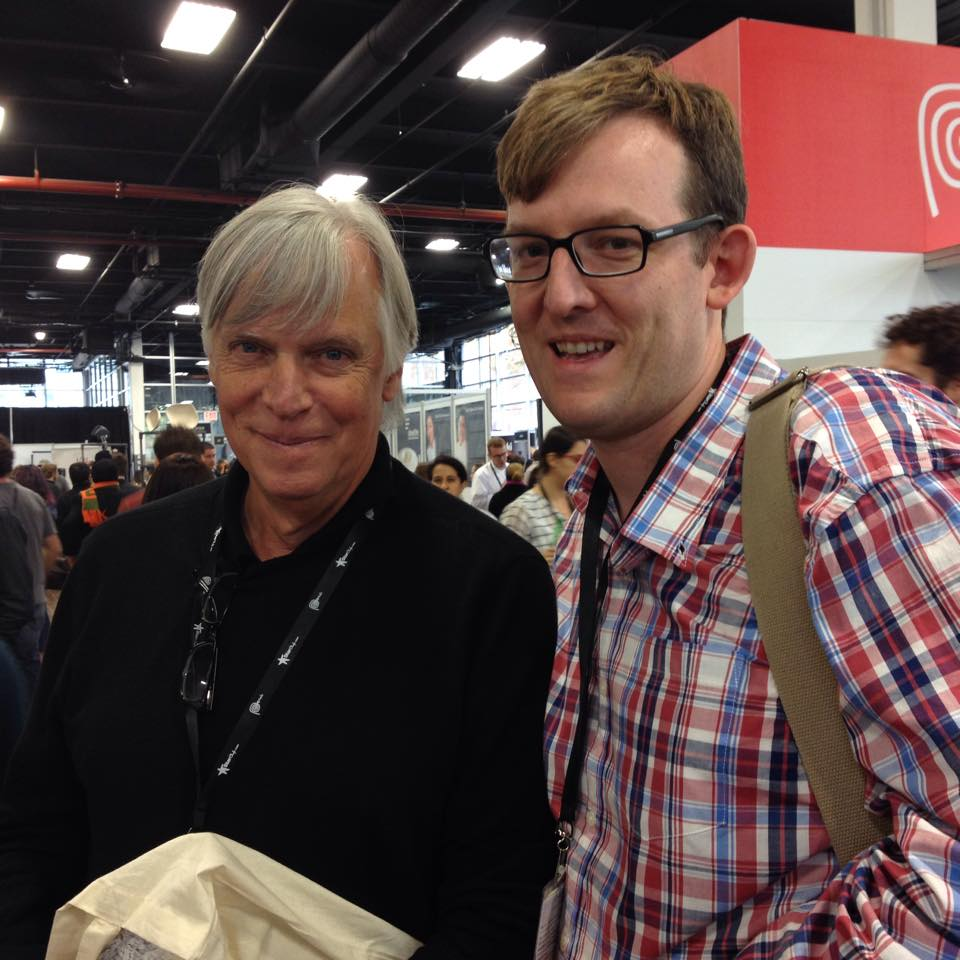 Chef Chris Spear with Glenn Roberts of Anson Mills at Starchefs ICC 2014