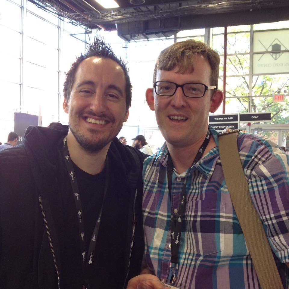 Chef Chris Spear with Derek Wagner at Starchefs ICC 2014