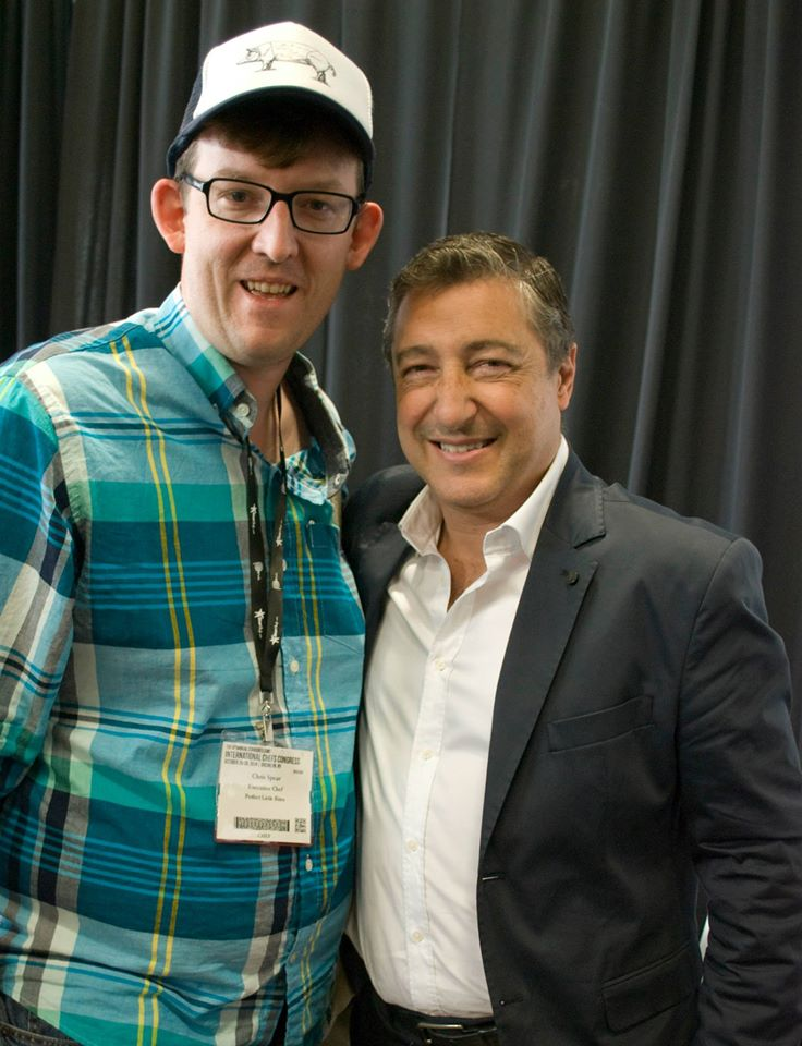 Chef Chris Spear with Juan Roca at StarChefss ICC 2014