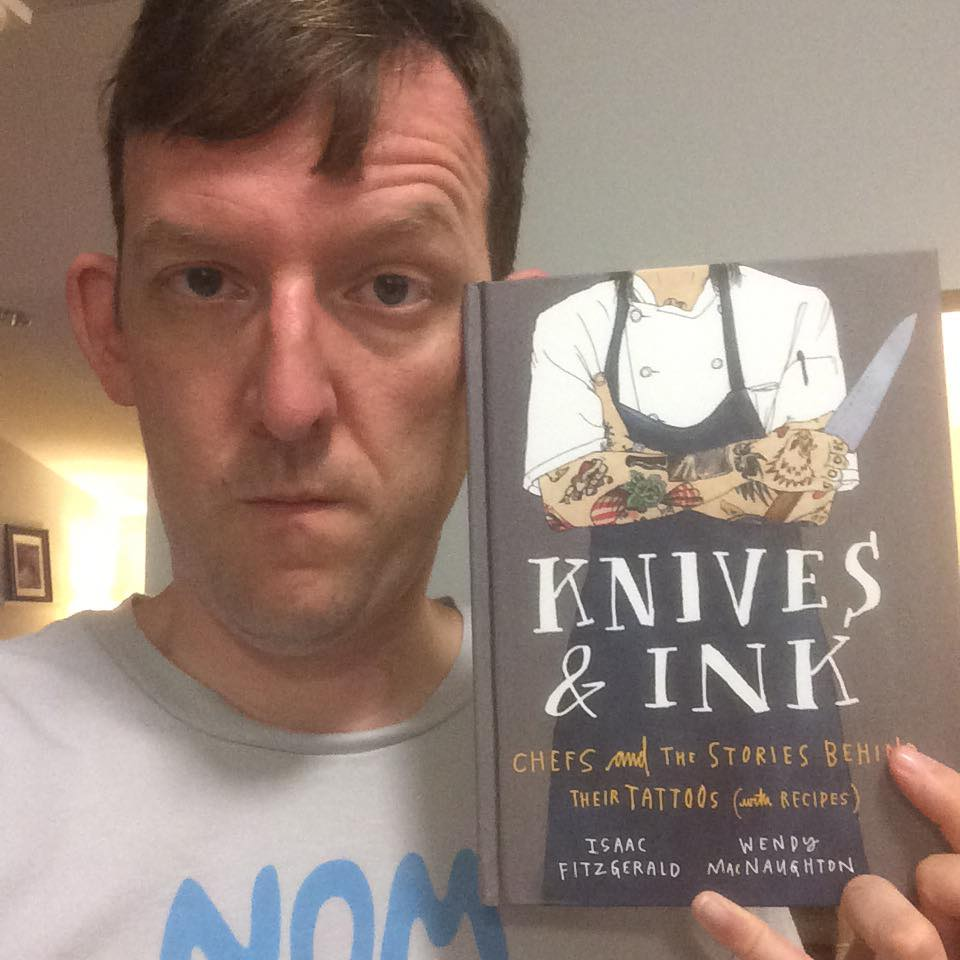 Knives & Ink Book with Frederick Maryland Chef Chris Spear