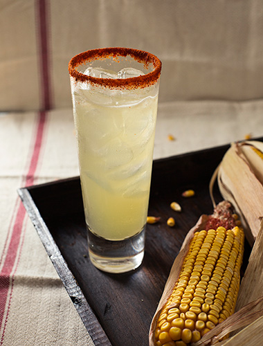 street corn sour cocktail in garden and gun from frederick maryland chef chris spear