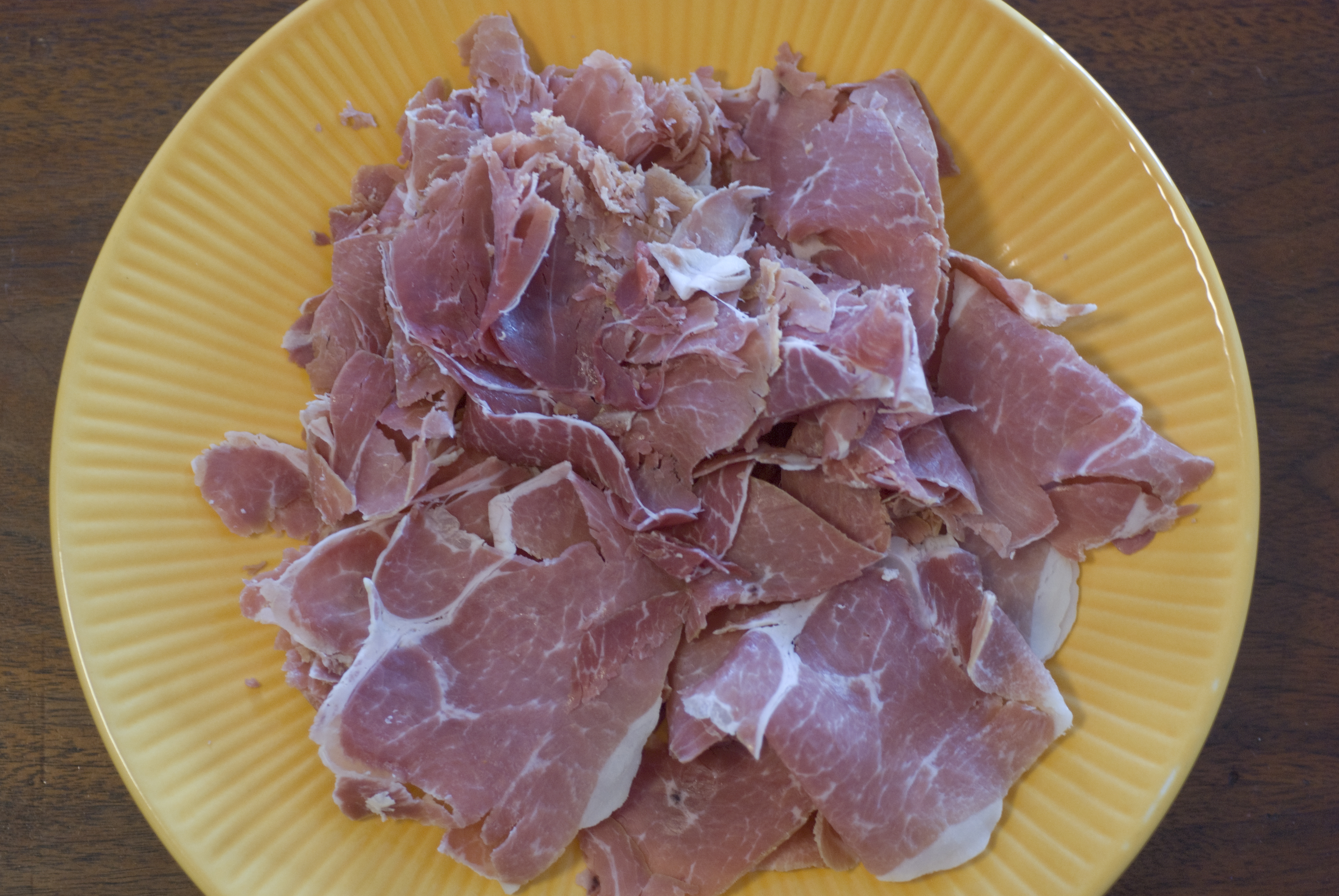 country ham used in a recipe for deviled country ham