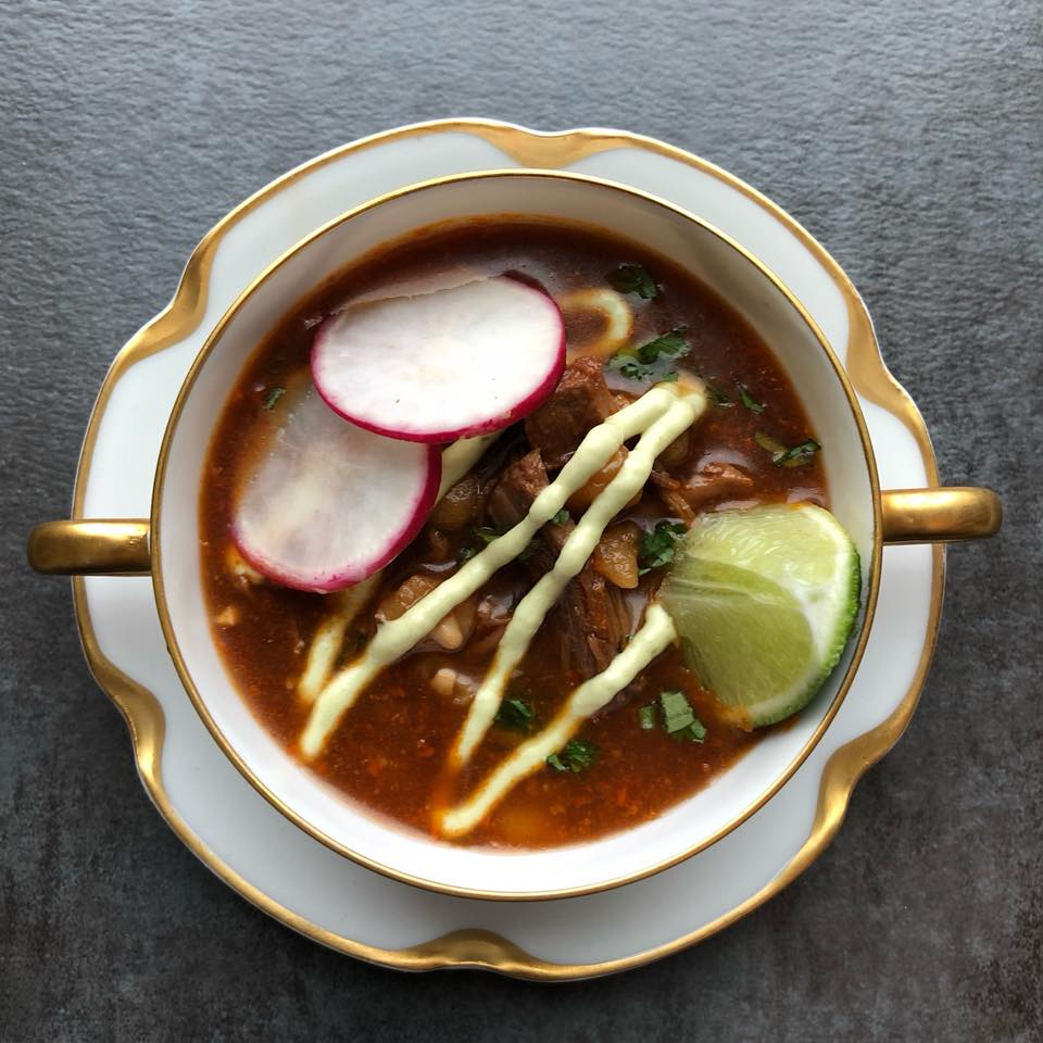 pork and hominy pressure cooker pozole recipe by frederick maryland chef chris spear