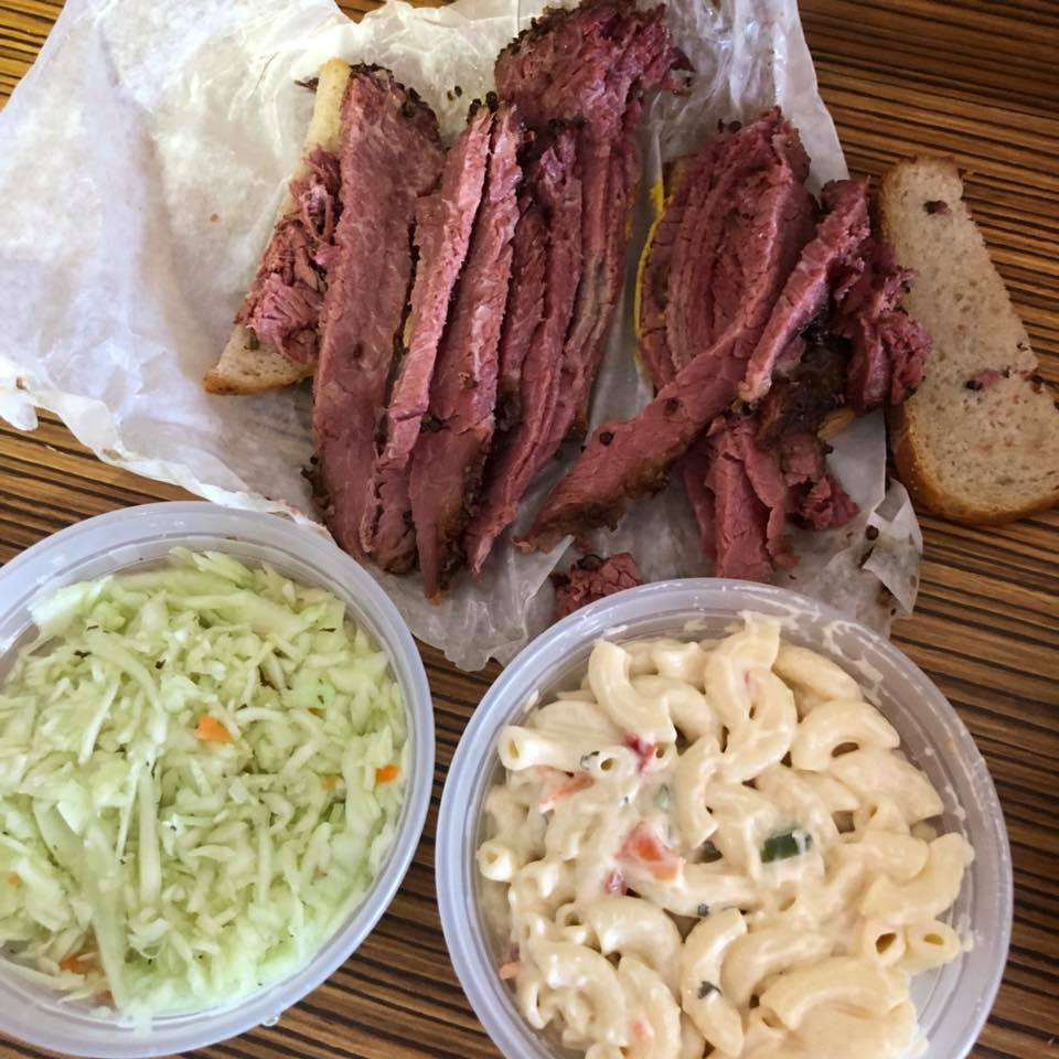 smoked meat sandwich at montreal mile end reastaurant schwartz's