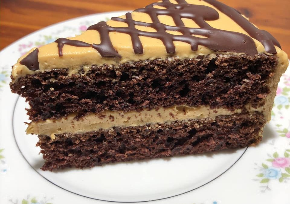 Mexican Hot Chocolate Cake, Cookie Butter Frosting and Coffee Ganache