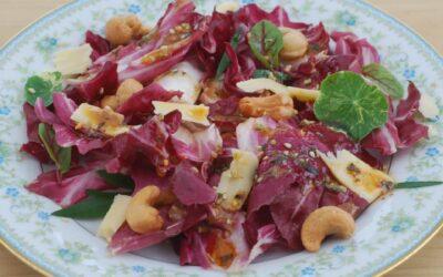 Radicchio Salad with Gouda and Cashews